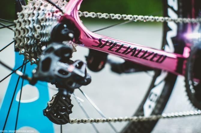 Specialized, now in glossy pink. (BrakeThrough Media)