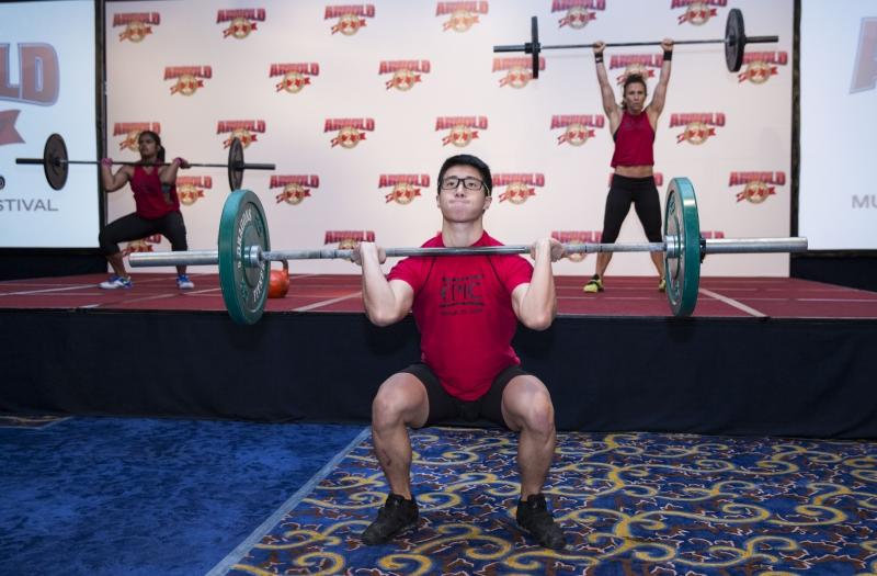 Weightlifting be part of the multisports festival.