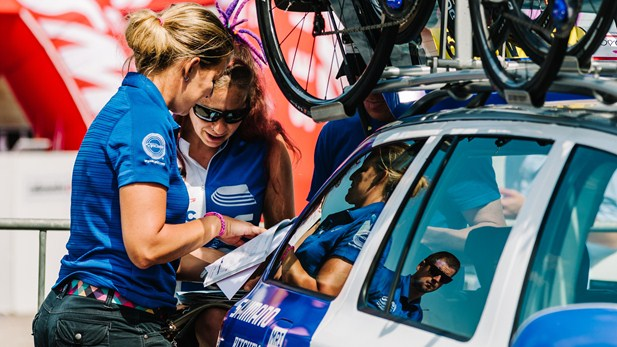 Former rider Rachel Heal continues working in cycling ©Sean Robinson