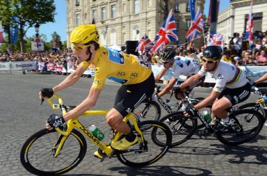 Bradley Wiggins on stage twenty of the 2012 Tour de France. (Cycling Weekly UK)