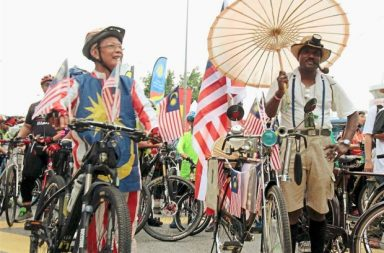 Prizes were given away for Best Dressed and Best Decorated Bicycles. (TheStar)