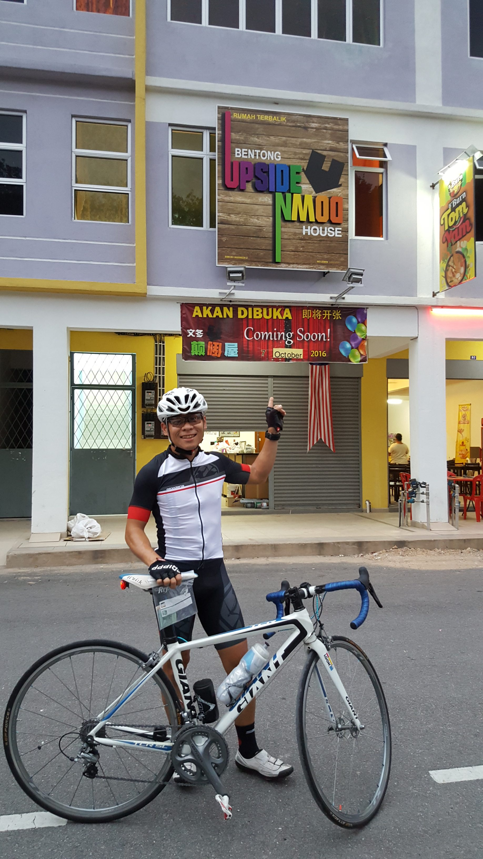 Cycle to Bentong's latest attraction, the Upside Down House. (Gan Heng Chye)