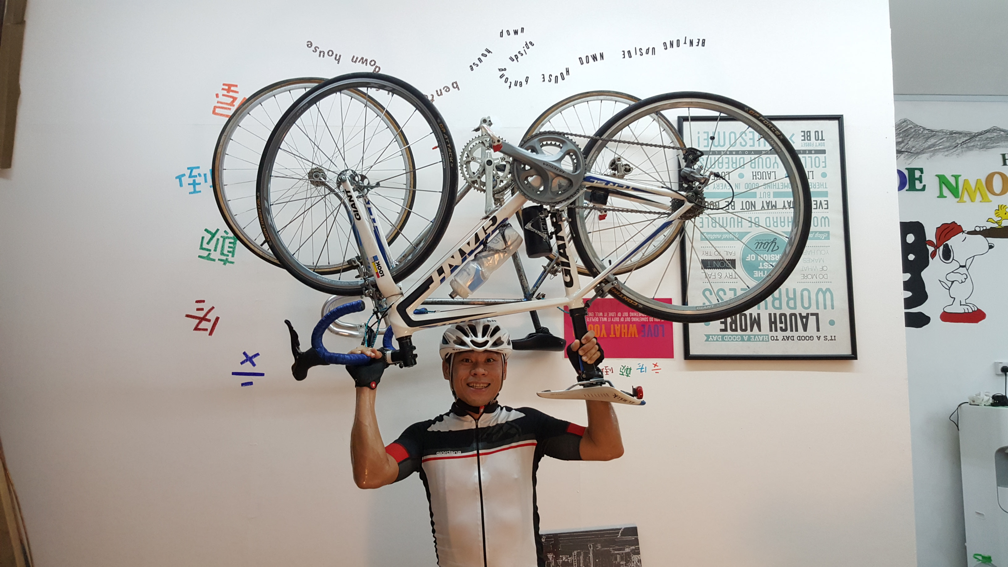 Holding your bike upside down will be easier than ever at the Upside Down House. (Gan Heng Chye)