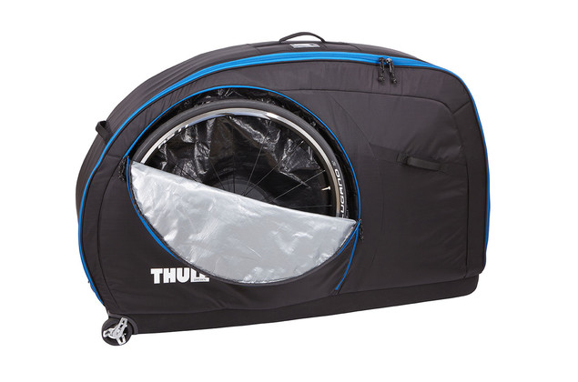 "External bike wheel pockets store and protect wheels (up to 29"") during transport"