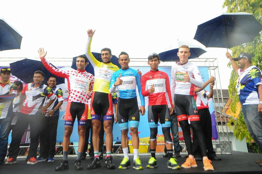 TSG's Nur Amirul remains in Best Malaysian rider jersey. (Jelajah Malaysia)