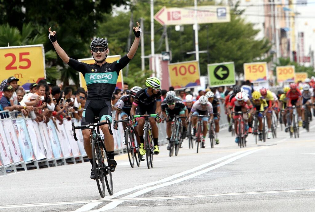 Park Sung Baek from KSPO claims victory in the final stage of Jelajah Malaysia. (Jelajah Malaysia)