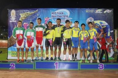 Malaysia's trio - Shah Firdaus, Khairul Nizam Rasol and Mohd Shariz Effendi claimed the gold in the men's team Sprint at the ACC Track Asia Cup 2016. (TheStar)