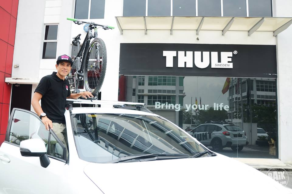 Shahrom Abdullah will be using the Thule Proride sponsored by Thule.