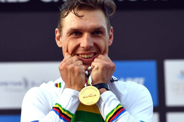Tony Martin is thrilled to wear the rainbow jersey again as World Time Trial champion of 2016. (CyclingWeeklyUK)