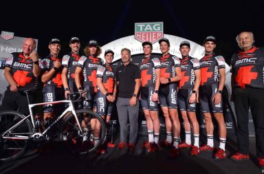 Cycling: BMC Racing Team - TAG Heuer / Press Conference Jim OCHOWICZ (USA) BMC Racing Team President & General Manager/ Jean Claude BIVER (LUX) TAG Heuer CEO/ Andy RIHS (SUI) Team owner BMC Racing Team (USA)/ Richie PORTE (AUS)/ Tom BOHLI (SUI)/  Rohan DENNIS (AUS)/ Stefan KUNG (SUI)/ Daniel OSS (ITA)/ Manuel QUINZIATO (ITA)/ Taylor PHINNEY (USA)/ Joey ROSSKOPF (USA)/ New sponsor partnership / Press Conference BMC Racing Team (USA) / © Tim De Waele