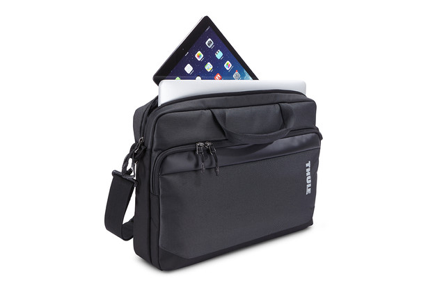 "Fits a 15"" laptop plus a 10.1"" tablet."