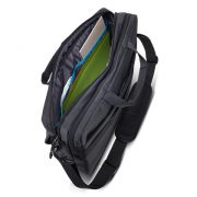 Separate main compartments for documents and personal gear with two large slip pockets.