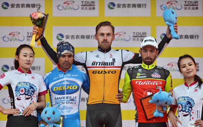 Australian Cameron Bayly of Taiwan's Attaque Gusto won stage 3 and leads overall at Tour of Taihu Lake. (Tour of Taihu Lake)