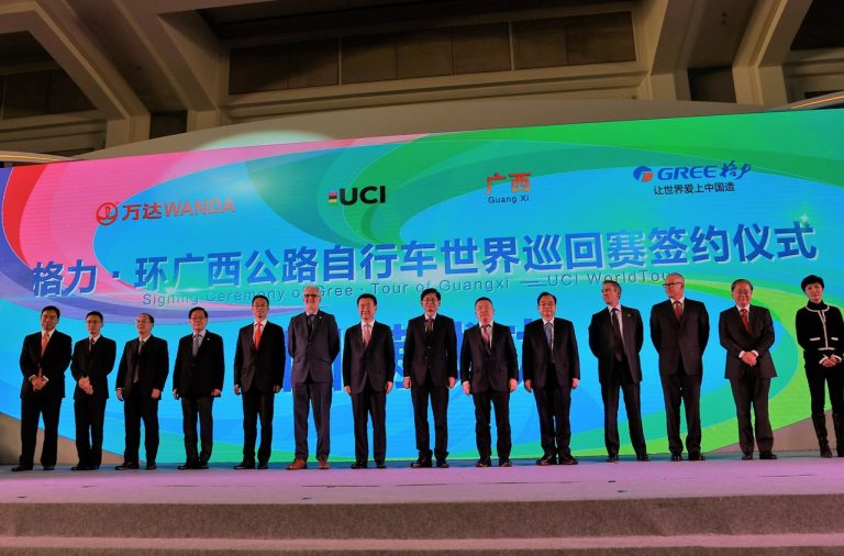 The UCI and Wanda Sports sign partnership to transform cycling in China