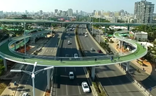China Announces World's Longest Cycling Skyway