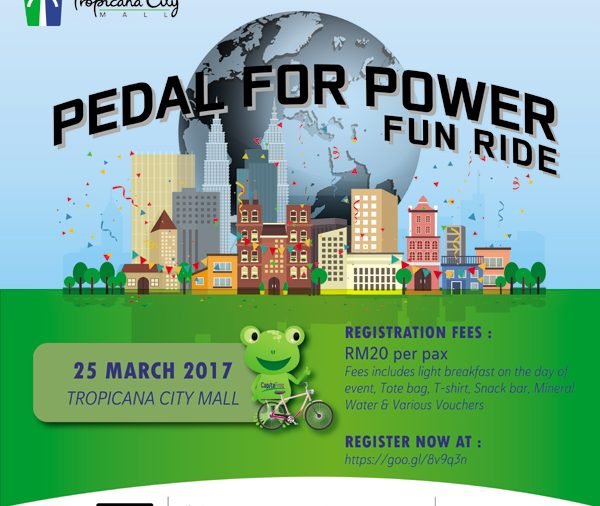 Pedal for Power Fun Ride by Tropicana City Mall