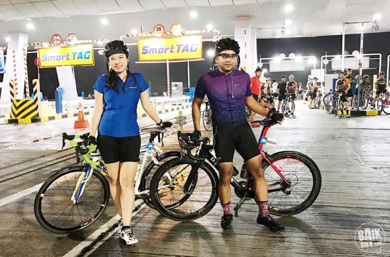 Lighting up the night at RHB Shimano Highway Ride on LEKAS
