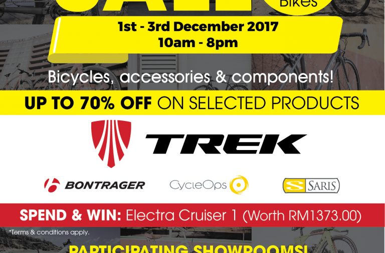 Treknology3 Year End Sale: Up to 70% Off from 1 – 3 Dec 2017